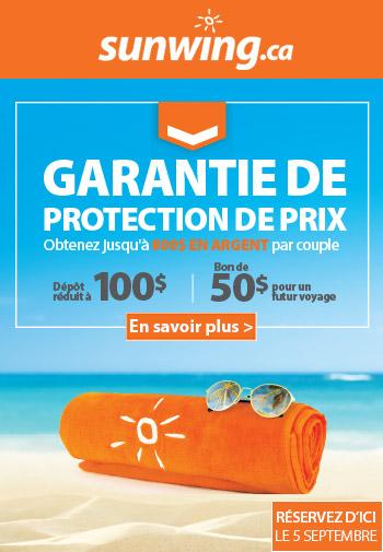 Vacances Sunwing Garantie de Protection de Prix