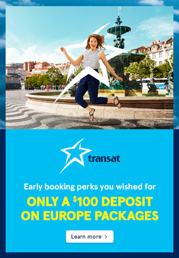 TRANSAT EUROPE 2019 EARLY BOOKING PROMO