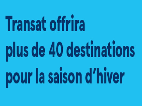 TRANSAT 40 DESTINATIONS