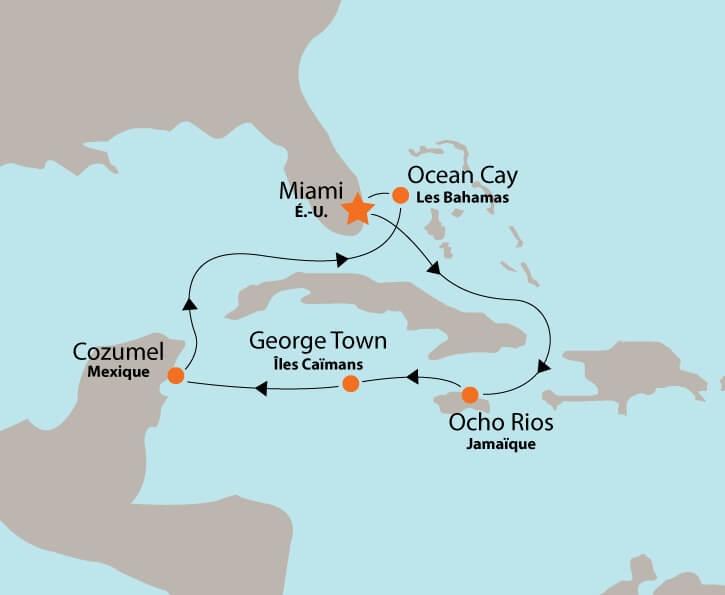 MSC Meraviglia map