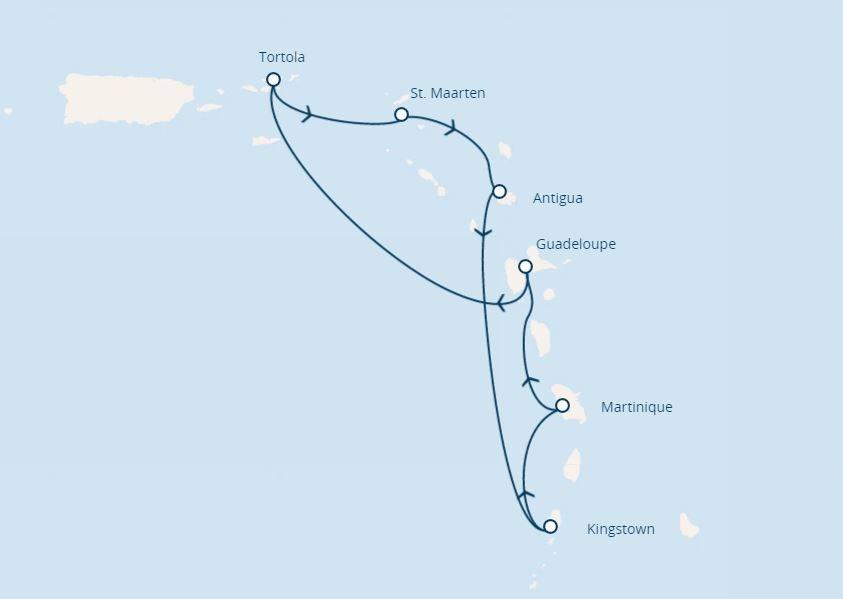 Costa Magica map