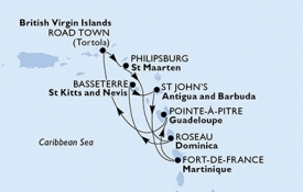 MSC PREZIOSA map
