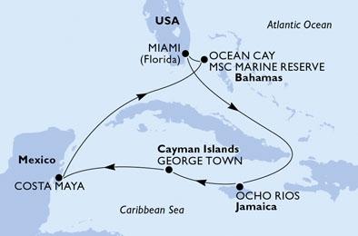 MSC Seashore map