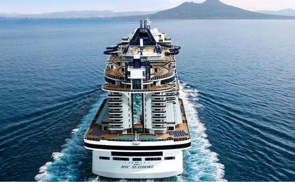 MSC Seashore boat